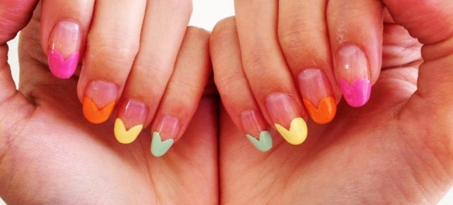 DIY: Valentine's Rainbow Heart Nail Art