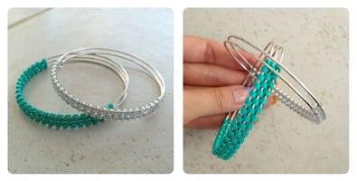 half weave craft lace bracelet