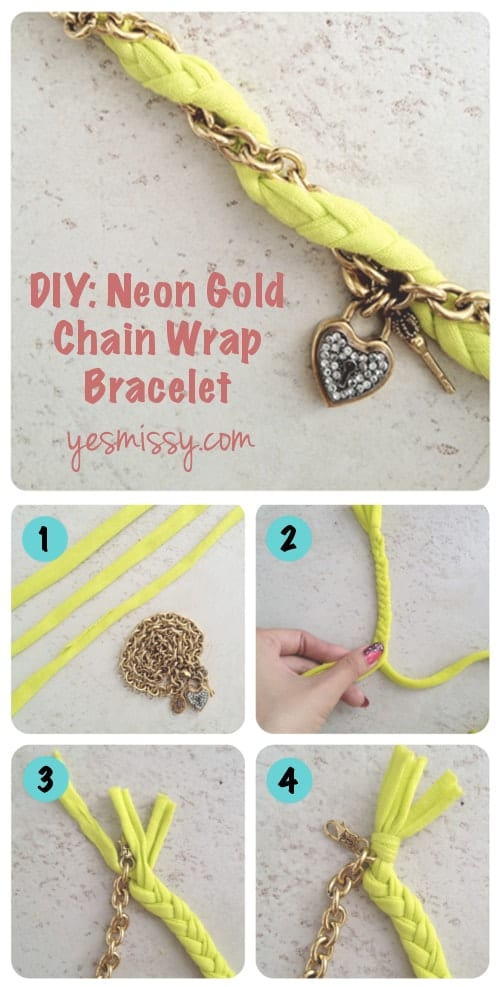 DIY Chain Wrap Bracelet