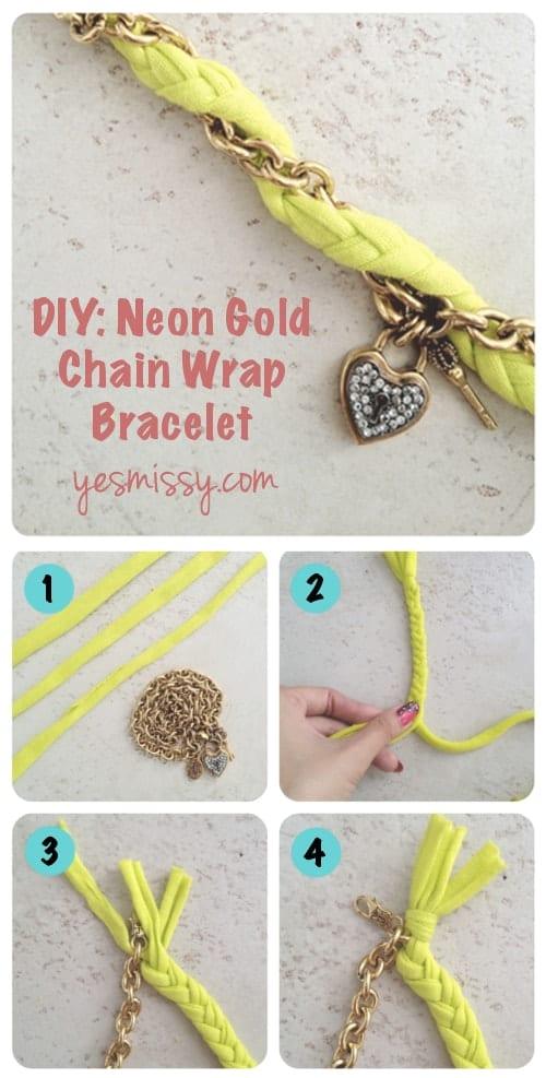 DIY Chain Wrap Bracelet