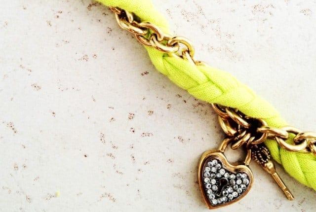 Neon gold chain
