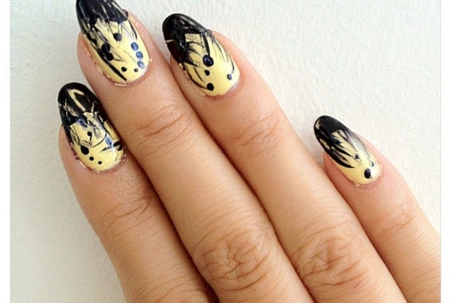 YesMissy.com: yellow abstract nails