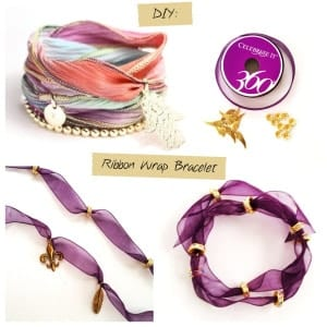 Jewelry DIY: Ribbon Wrap Bracelet