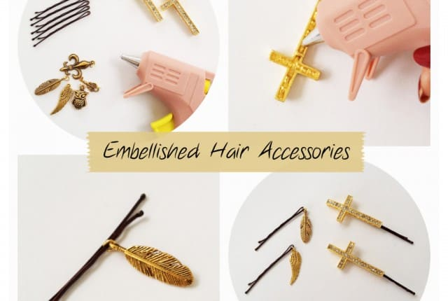 DIY Embellished Hair Pins Tutorial