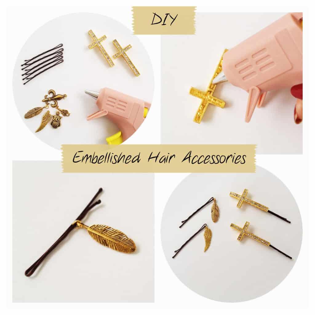 DIY Embellished Hair Pins Tutorial
