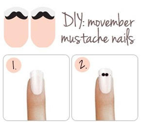 DIY: Movember Mustache Nail Tutorial