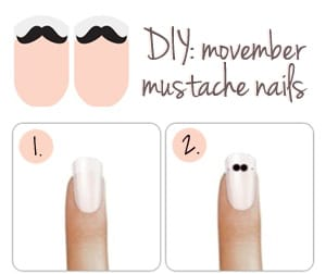 Movember Nail Tutorial
