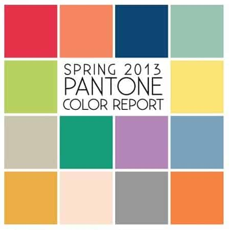 Pantone for Spring 2013