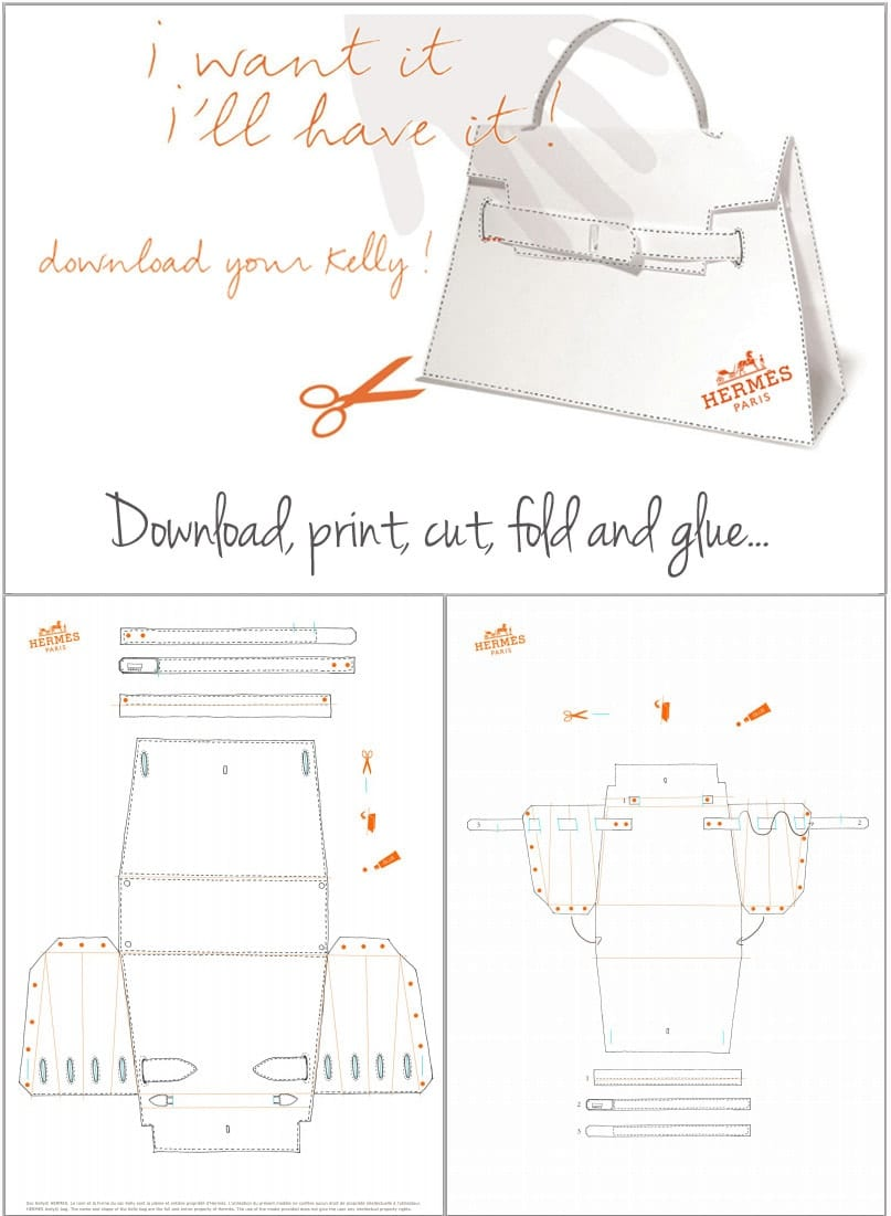 DIY Hermes Kelly Bag - origami folding tutorial