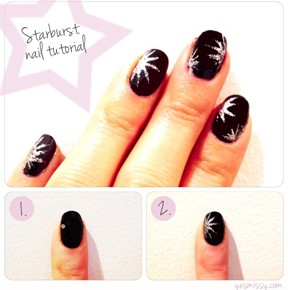Nail DIY: Starburst Nail Tutorial