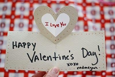 DIY: pop up valentine's day cards