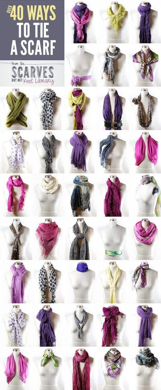Creative ways to wear a scarf