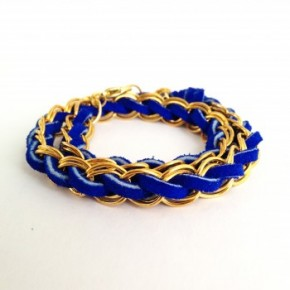 Jewelry DIY: Suede Woven Chain Bracelet (Part 2)