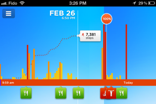 Jawbone Up Band App Screenshot - Lifeline