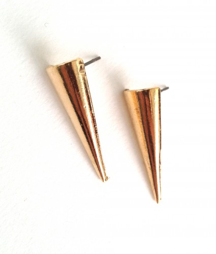 Minimalist gold triangle earrings - available @ yesmissy.etsy.com