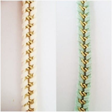 DIY Jewelry: Suede and Chain Woven Bracelet Tutorial