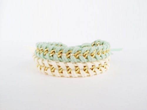 Jewelry DIY: Chain Woven Bracelet Tutorial