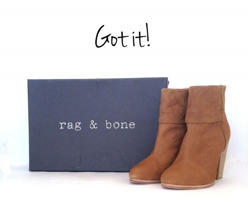 Got it: Rag and Bone Newbury Boots