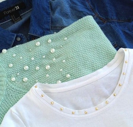 DIY Fashion - Studded t-shirt