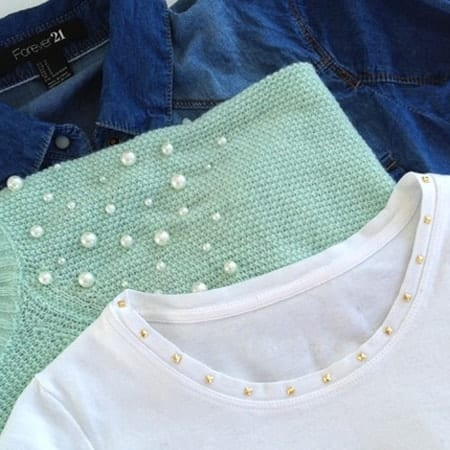 DIY Fashion - Studded t-shirt