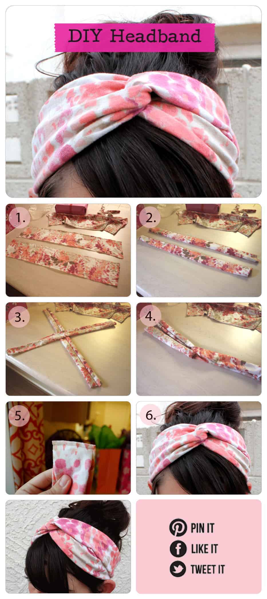DIY fabric headband tutorial