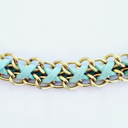 DIY bracelet chain & suede