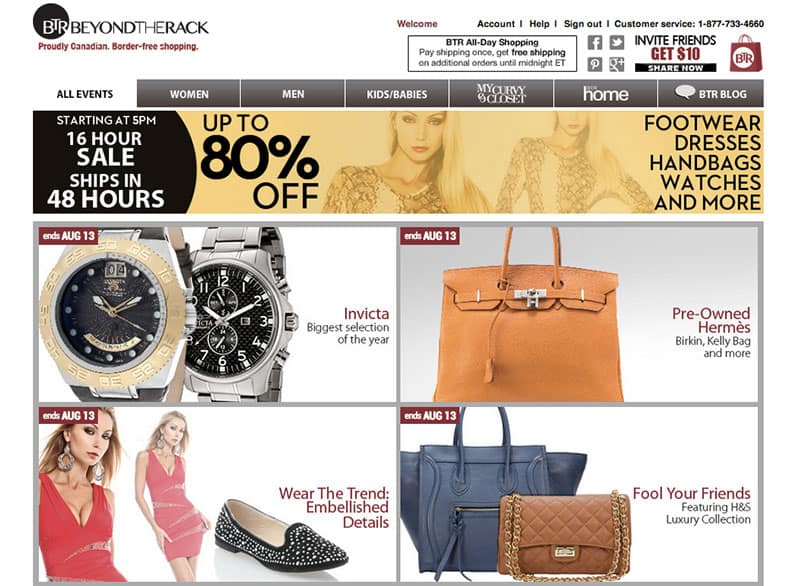 Best Online Shopping Sites - Beyond the Rack