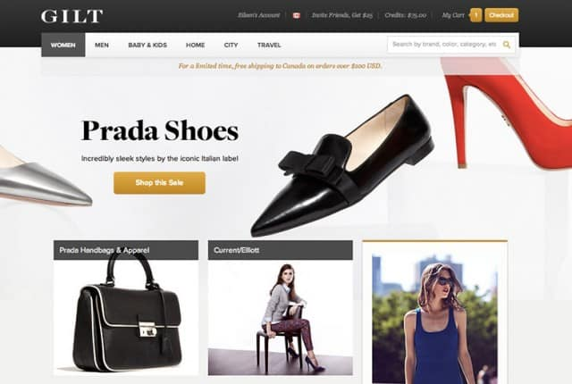 Best Shopping Sites - Gilt.com