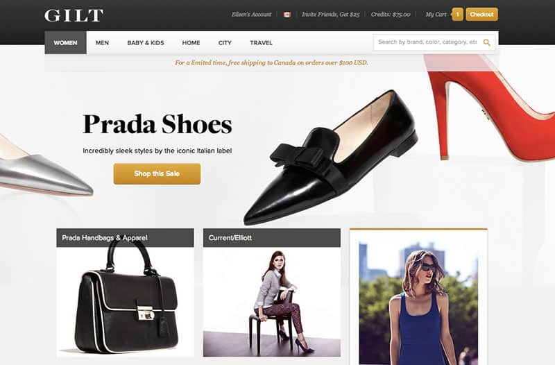 Best Online Shopping Sites - Gilt.com