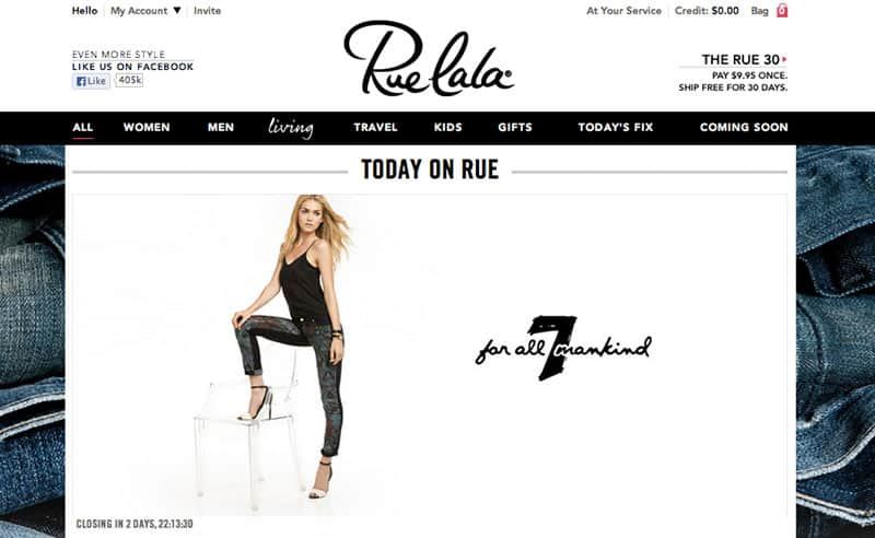 Best Online Shopping Sites - Rue La La