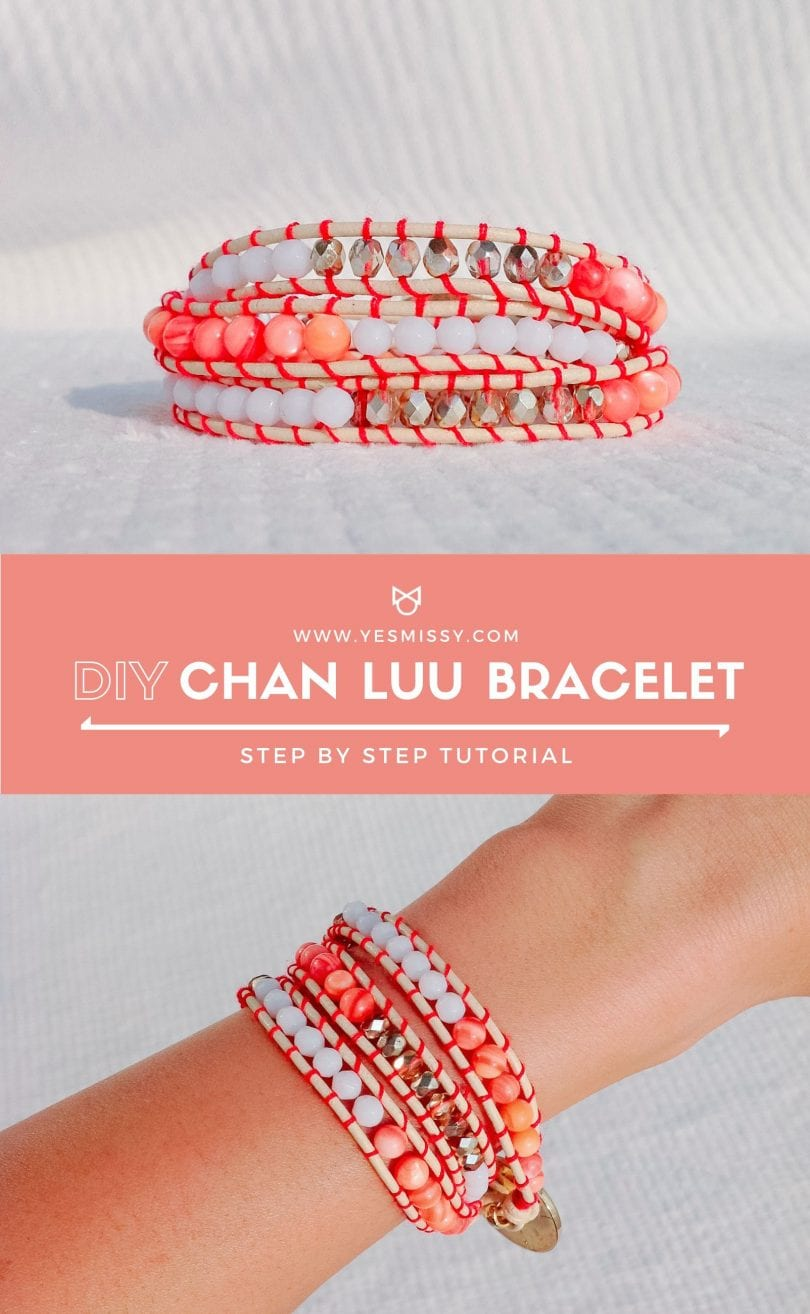 DIY Chann Luu bracelet tutorial with step by step instructions. Make this easy beaded wrap bracelet by following this tutorial by Eileen Lazazzera of YesMissy.com