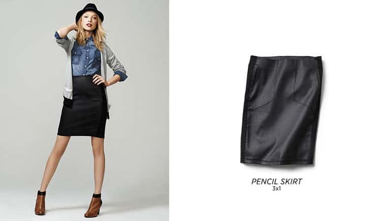 Fall Fashion Favorites - Leather Pencil Skirt
