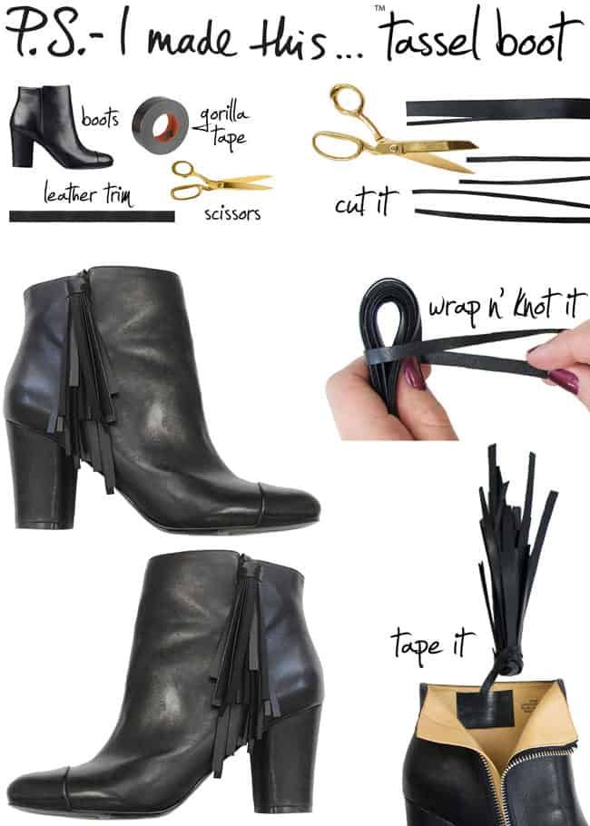 Best DIY Blogs - Tassel Boots