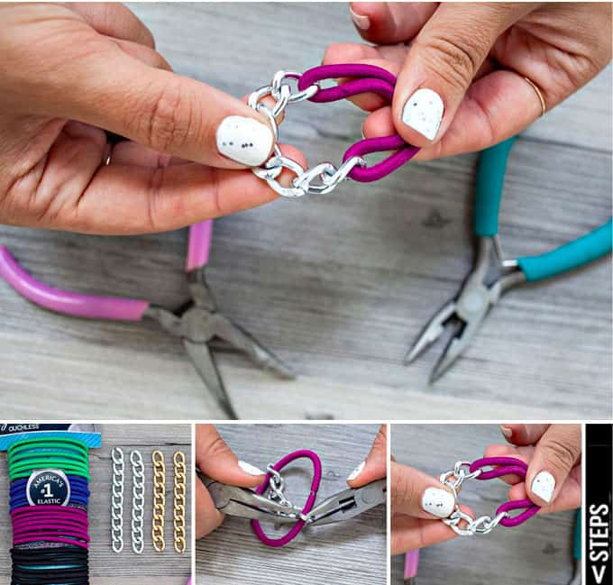 Best DIY Blogs - Chain Hair Tie