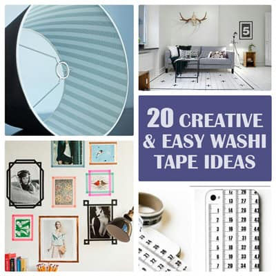 20 Easy Washi Tape Ideas