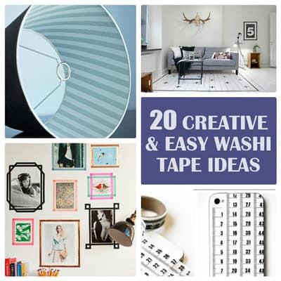 20 Creative Washi Tape Ideas