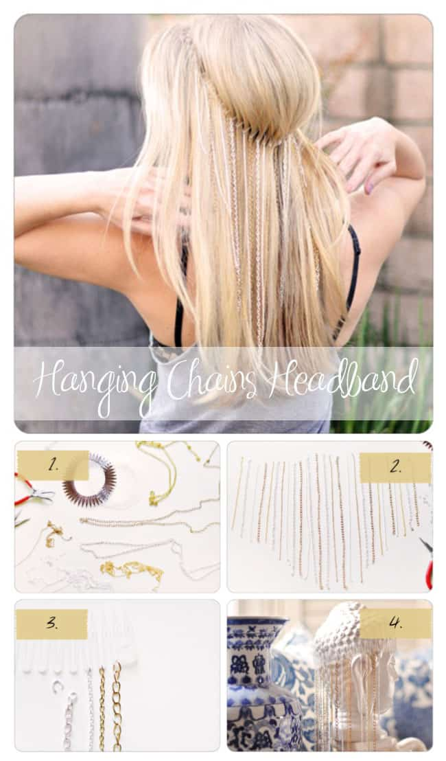 DIY Hanging Chains Headband