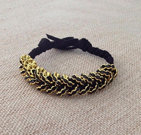 DIY glammed up hex nut bracelet