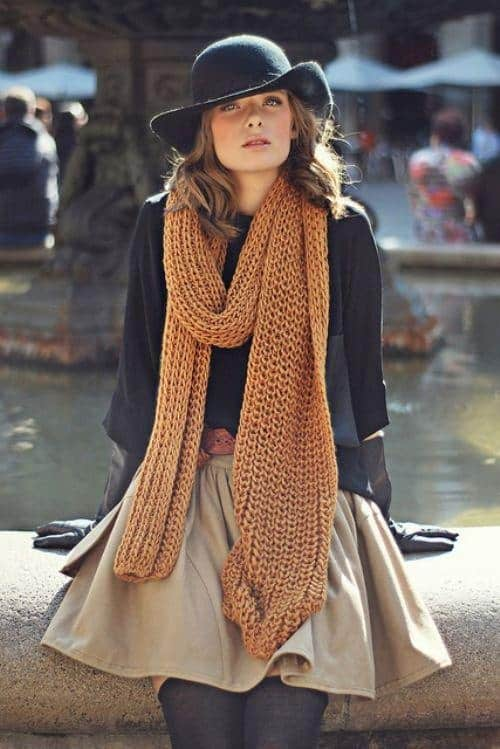 5 Winter Style Essentials - Chunky Knit Scarf