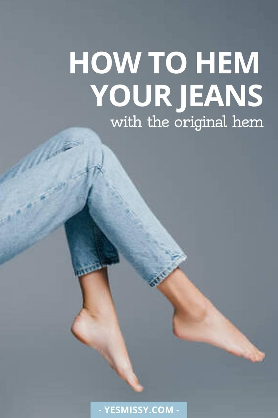 DIY: a guide on how to hem jeans with the original hem.
