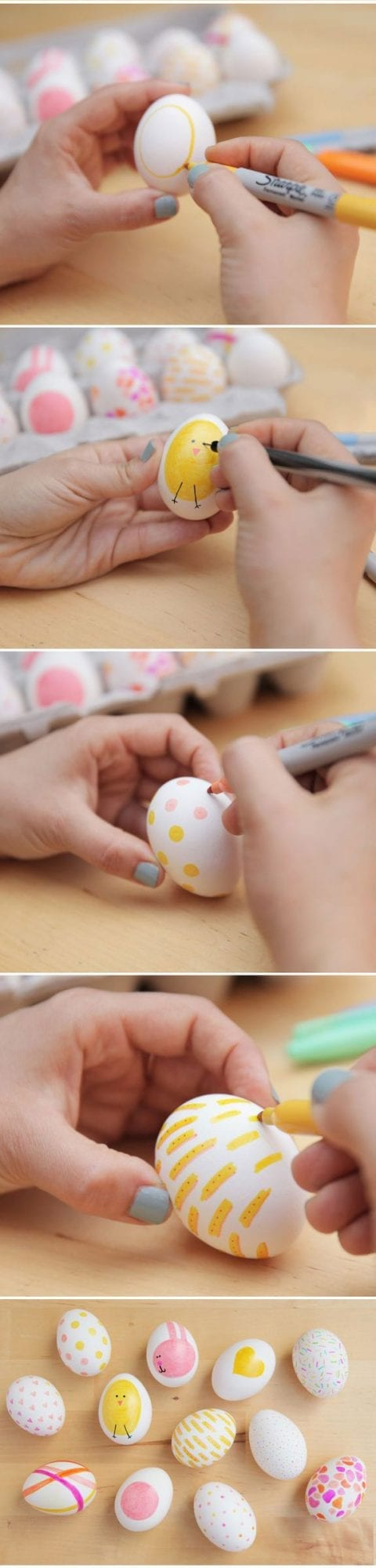 DIY Sharpie Crafts - Easter Egg Decorating