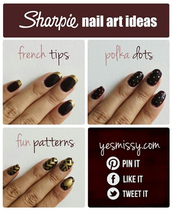 Forget painting your nails, use Sharpies to create your nail art!