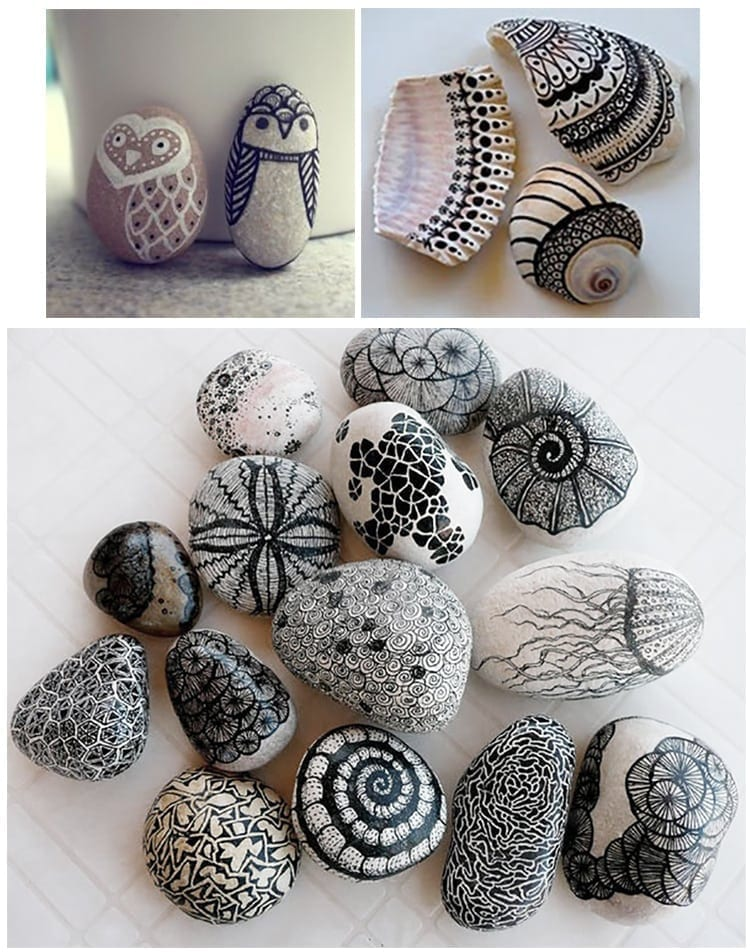 DIY Sharpie Art - Decorating your home with Sharpies by creating rock artwork