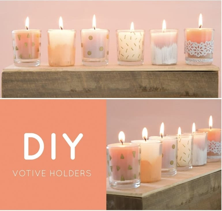 DIY Home Decor - DIY Sharpie Candle Votives