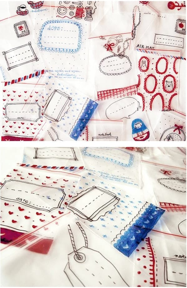 DIY Sharpie crafts - take zip lock bags and give them a doodle for to make them creative little gift bags
