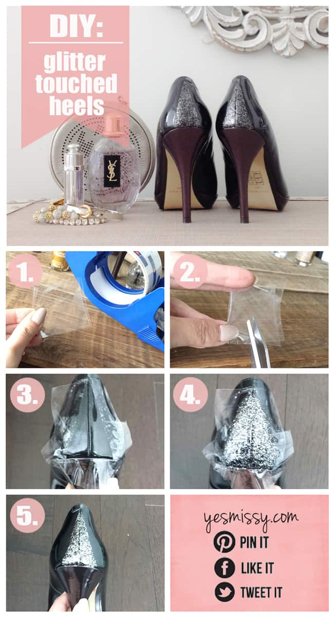 DIY Glitter Heels Tutorial