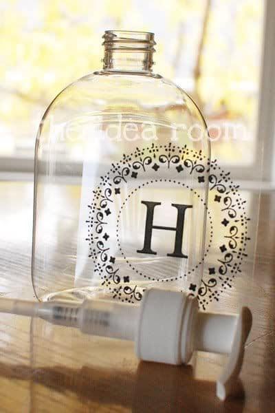 12 Handmade Gift Ideas Everyone Will Love - Monogram Soap Dispenser