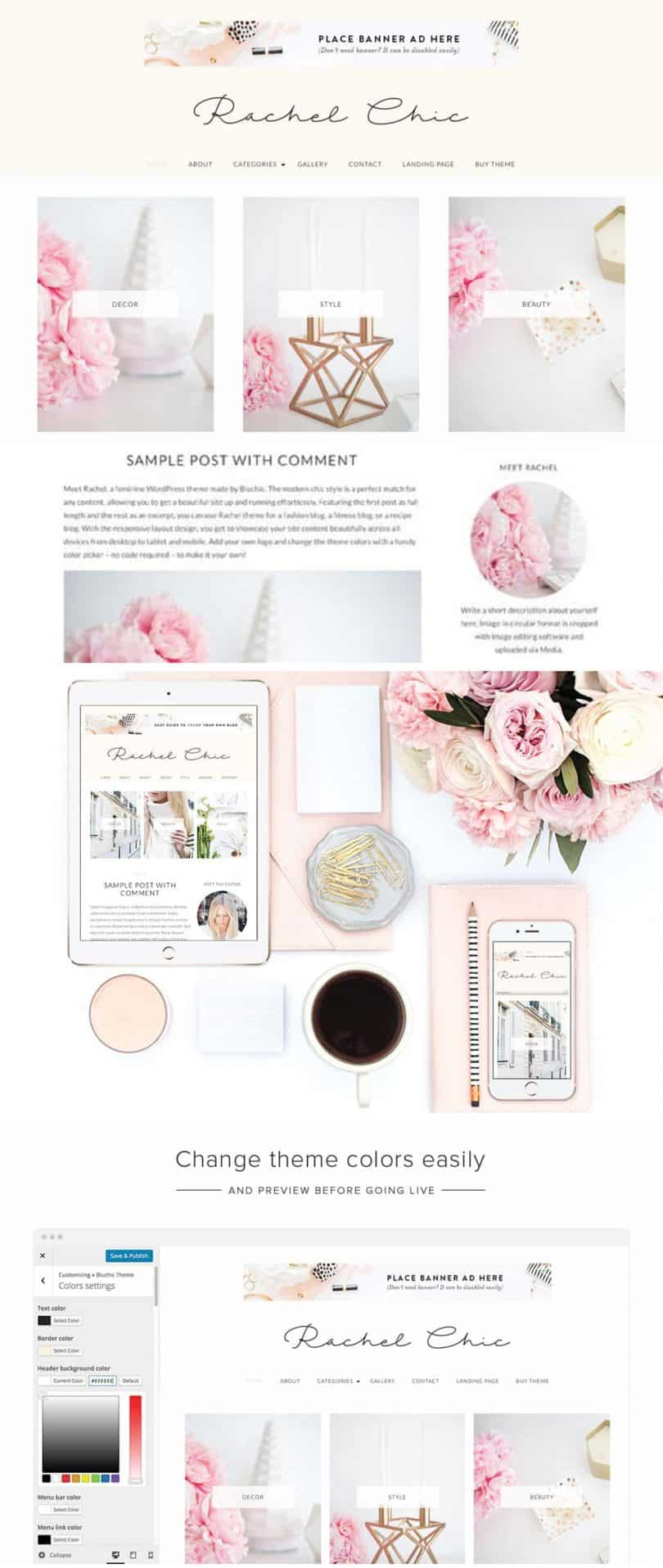 Best feminine wordpress themes for bloggers, entrepreneurs, and #girlbosses