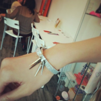 Designher Kit Review - DIY Spike bracelet