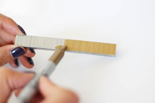 DIY Stationary - Sharpie gold staples
